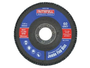 Abrasive Jumbo Flap Disc 115mm Medium